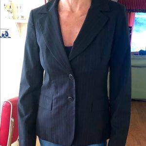 Caslon dark blue pinstriped suit jacket size 6